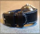 Ремешок для часов - Черный крокодил 3